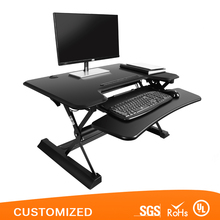 "Dual monitor use standing desk height adjustable for 36"", height adjustable executive desk"