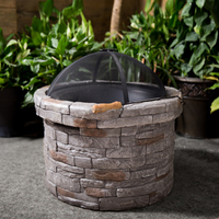 Stunning Culture Stone Outdoor Fire Bowl Fire Pit,Wood Burning