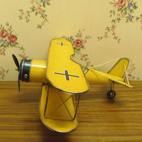 Handcrafted vintage looking antique metal crafts airplane models