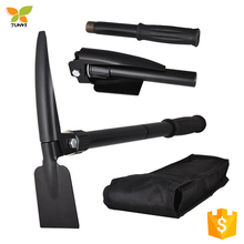 3 in 1 camp foldable steel shovel multi tool with hoe opener shovel