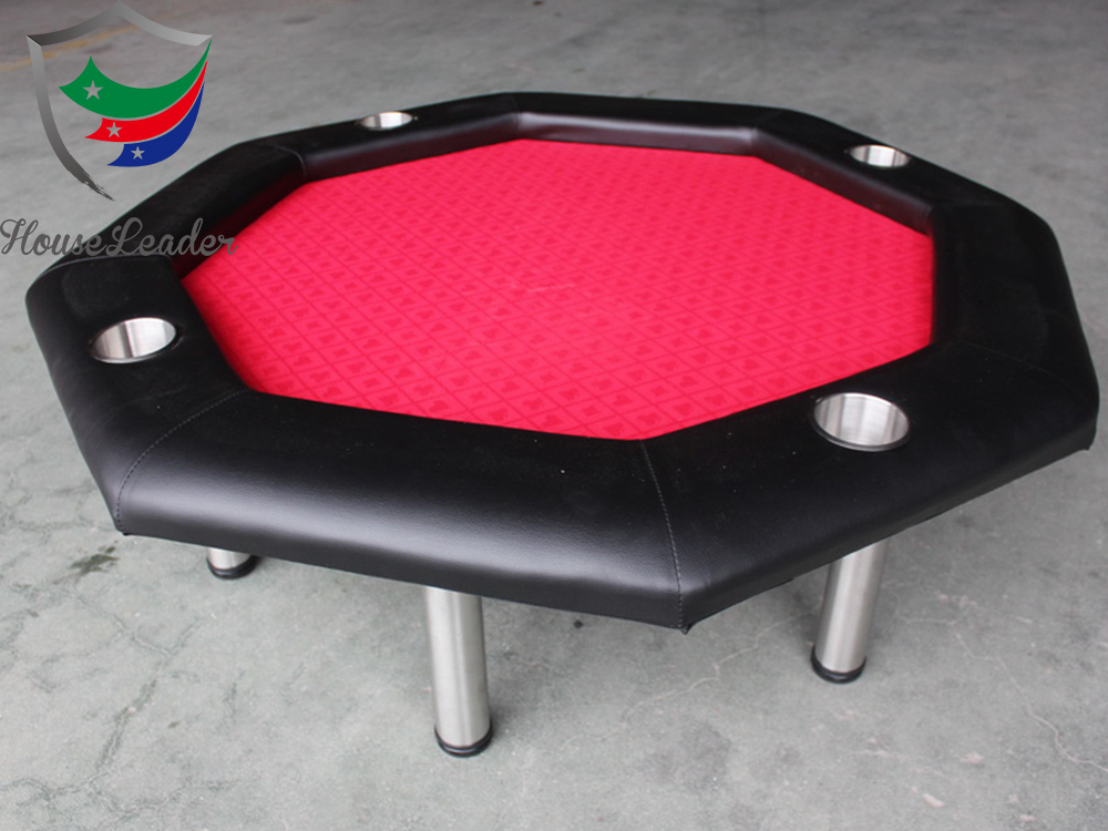 40 inch Mini Size Fun4Four 4 seats Custom Casino Octagon Wood Game Poker Table with Short metal legs