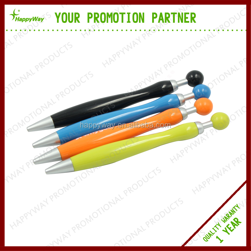 Best Selling Sphere Plunger Plastic Ballpoint Pen , MOQ 100 PCS 0201017 One Year Quality Warranty