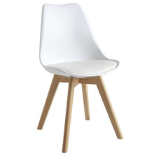 Modern Design Dinning PP Plastic Little Tulip Chair Replica Dining Room Chair with Leather Cushion