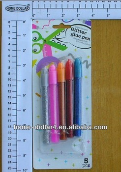 5pcs colorful stationery sparkling glue pen for kids/glitter glue pen