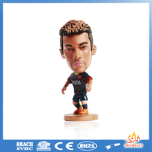 Customized soccer toy cartoon Lionel Messi and neymar football player action figures