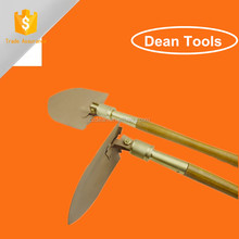 Used As Shovel Knife ,Saw , Hammer , Hoe With Wooden Handle,Non Sparking Foldable Shovel Digging Tools