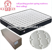 5 Star Queen Size compress roll packing Pocket Spring Hotel Bed Mattress In A Box