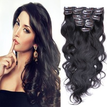 Popular hot selling hair extensions factory in china, human remy clip in hair extensions