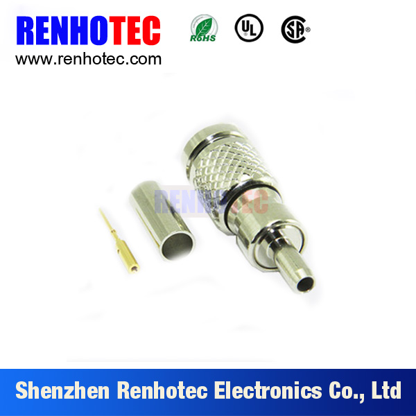1.0/2.3 DIN Connector Crimp Plug for RG316 Screw Thread DIN 1.0/2.3 Male RF Connector