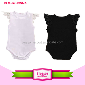Baby Girls Angel Wing Ruffle Rompers brand clothes playsuit custom bodysuit unisex lace wing flutter sleeve baby romper