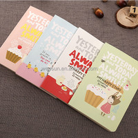 Cute Notebook Red Hat Girl Agenda