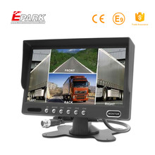 New arrival car 7 inch tft lcd color quad monitor with sunvisor