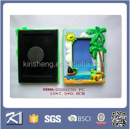 Fridge Magnet Custom design 3d Soft Pvc Rubber Photo Frame
