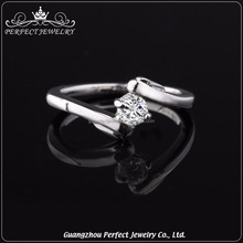 Factory manufacturer best price custom low MOQ s925 silver ladies sample wedding ring designs