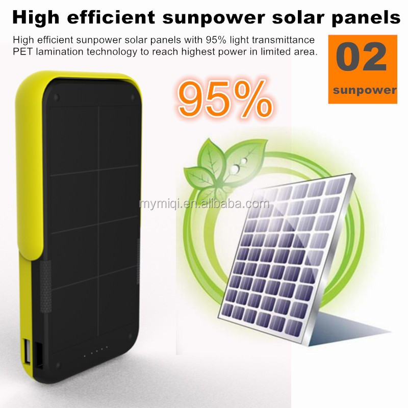 Portable solar power bank 10000mah(6000mah/8000mah/10000mAh) Solar Charger cell phone External Battery Portable Power Bank