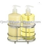 Chrome-palted bathroom shower caddy
