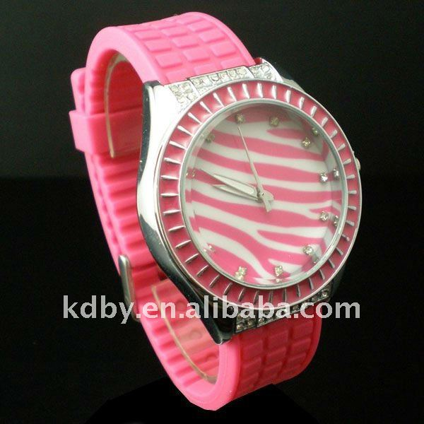 Zebra Animal Dial Tire Strap Women Sexy Watch Valuable