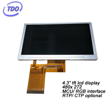 China factory 4.3 inch 480x272 tft lcd display RTP CTP touch screen optional