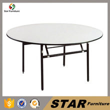 wholesale used hotel restaurant furniture folding round banquet table dining table