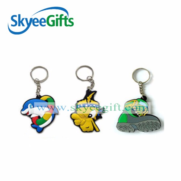 Factory cheaper promotion gifts plastic keyring / 3D soft pvc keychain