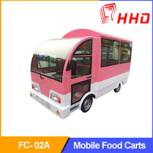 Mini Edition Environmental Protected Electric Drive Mobile Food Cart For Multifunctions