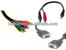 wholesale high quality rca male to vga female cables