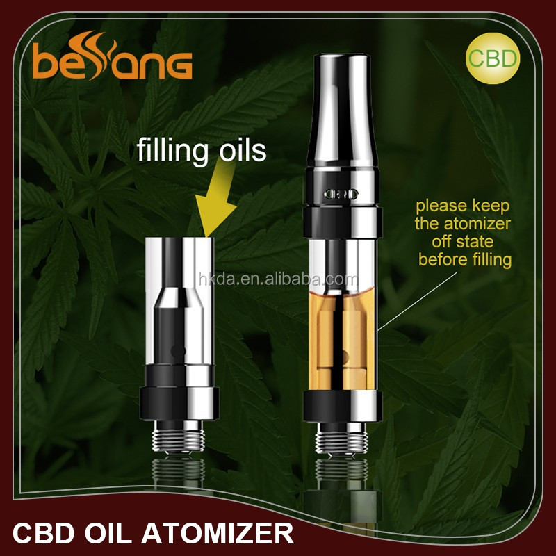 Shenzhen HengKangda newest cbd oil cartridge ceramic atomizer disposable glass pen vape thc tank