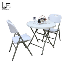 Restaurant backpacking lightweight folding cheap outdoor plastic dining table and chairs