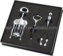 New style professional wine opener,beer opener,bottle stopper wine tools gift box set