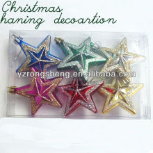 decorative plastic hanging christmas star small