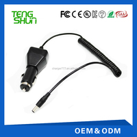 dc input 12-24v 9v 2a 12v 12.6v 1a output car charger with cable