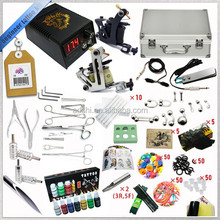 Complete Equipment 3 Tattoo Machine Gun 7 Color Inks piercing tools tattoo kit