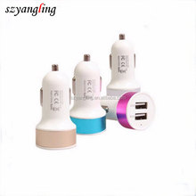 2 USB Port Car Cigarette Charger Quick Car Charger for Samsung Galaxy S6 Note 5 smartphones
