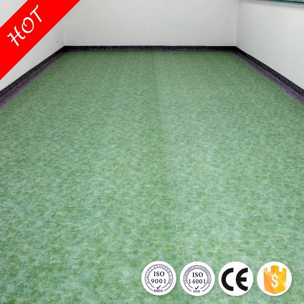 2016 hot sale top quality Eco friendly fiberglass backed vinyl flooring for hospital with CE/ISO
