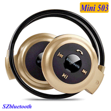 Mini 503 headphones high quality cheap wireless sport bluetooth headset support TF card FM MP3 player