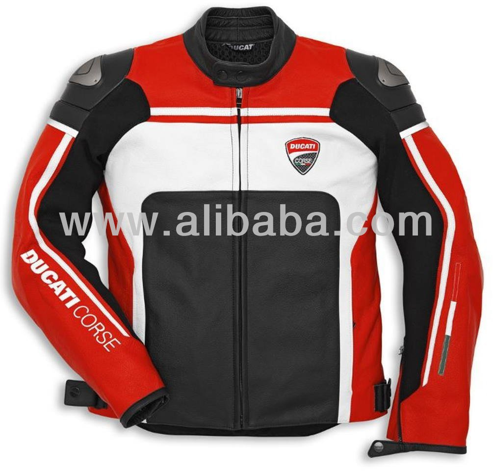 DUCATI CORSE 2014 MOTORBIKE/MOTORCYCLE LEATHER JACKET