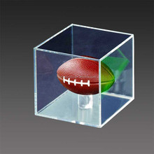 cheap clear acrylic ball display case .plexiglass basketball display box wholesale