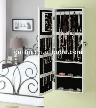 Modern high quality wooden jewelry cabinet