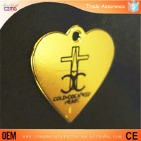 custom metal jewelry tags finding manufacturer China