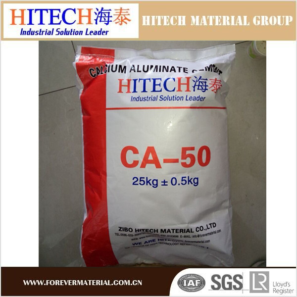 Zibo Hitech China factory high properties high alumina cement for refractory concrete