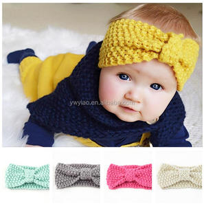 Kids Knitted Hairbands decorative girls hair band woolen hair band
