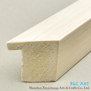 Custom size simple wholesale wood picture frame moulding