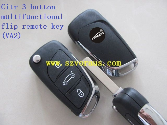 New 3 button multifunctional flip remote key for Citroen (VA2) Supporting the 3 series car models.