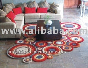 Shaped rug circular design