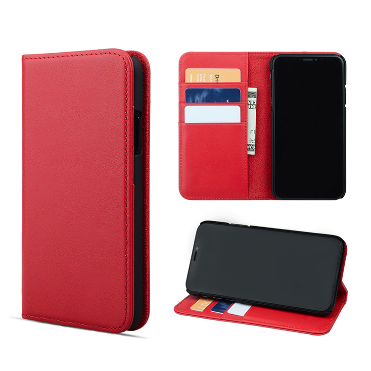 For iPhone X wallet stand function card holder leather mobile phone case
