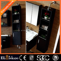 black Revolving Rotating Side Bathroom wall mounted Mirror cabinet