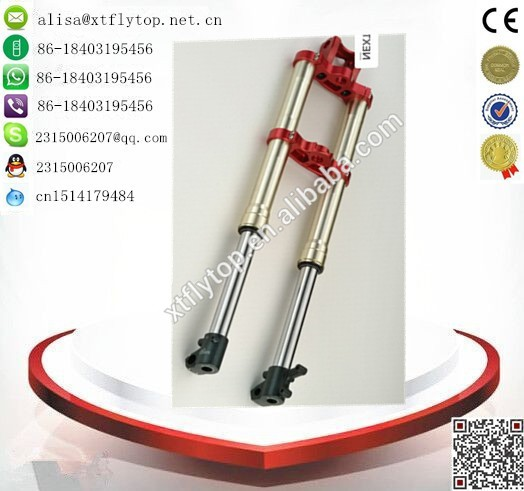 China 2015 hot sale surface oxidation finish machinig of surface 735mm adjustable front fork/motorcycle air shock absorber