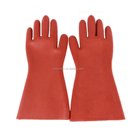 12KV electrical insulating latex rubber safety hand gloves