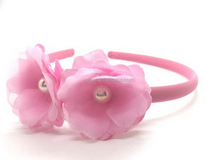 popular fabric flower headbands for baby girls,cheap wholesale hair accessories