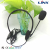 china supplier wired headband mono usb call center headset